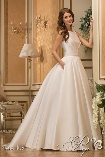 Свадебное атласное платье 2